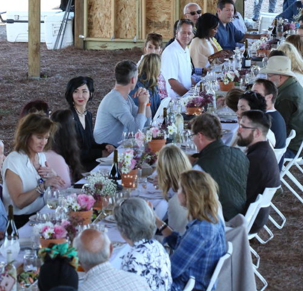 50 Guests Gathered At Our Chefs in the Field Table